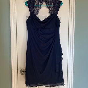 Navy Blue Formal Cocktail Dress